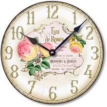 Item C8255 Vintage Style Rose Perfume Label Clock