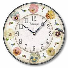 Item C8310 Pastel Pansies Clock