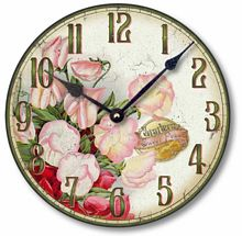 Item C8355 Sweetpeas Floral Clock