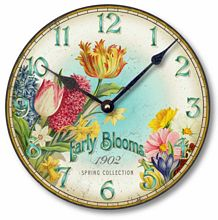 Item C8357 Spring Flowers Clock