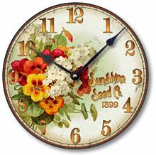 Item C8358 Vintage Seed Packet Flower Clock