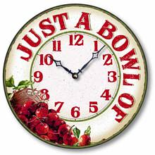 Item C8902 Casual Bowl of Cherries Kitchen Clock