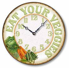 Item C8906 Casual Eat Your Vegetables Kitchen Clock