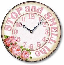 Item C8912 Casual Smell the Roses Kitchen Clock