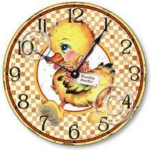 Item C9001 Yellow Duckling Decorative Wall Clock