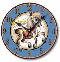 Item C9004 Vintage Style Painted Pony Retro Western Clock