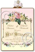 Item M300 Victorian Wedding Certificate Plaque