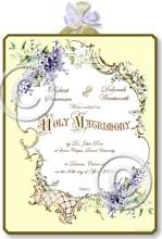 Item M302 Victorian Wedding Certificate Plaque