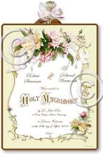 Item M303 Victorian Wedding Certificate Plaque