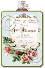 Item M304 Victorian Wedding Certificate Plaque