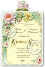 Item M305 Victorian Wedding Certificate Plaque