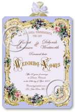 Item M306 Victorian Wedding Certificate Plaque