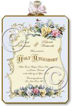 Item M308 Victorian Wedding Certificate Plaque