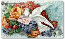 Item 09181 Victorian Style Dove and Flowers Plaque