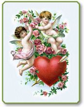 Item 12032 Valentine's Day Cupids Heart Plaque