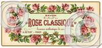 Item 2105 Vintage Style Rose Soap Label Plaque