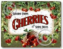 Item 4705 Vintage Style Fresh Cherries Plaque