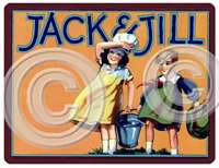 Item 595 Vintage 30s Style Jack & Jill Children's Room Plaque